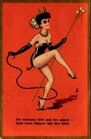 Vintage Krampus Holiday Card