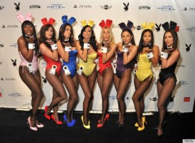 INDIANAPOLIS, IN - FEBRUARY 03: Playboy Bunnies attend the 2012 Playboy Party hosted by Bud Light Hotel at Bud Light Hotel on February 3, 2012 in Indianapolis, Indiana. (Photo by Stephen Lovekin/Getty Images for Bud Light Hotel)